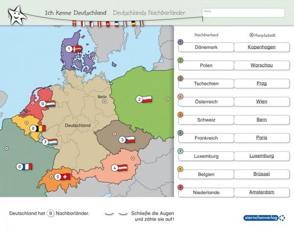 Ich kenne Deutschland - Deutschlands Nachbarländer - ohne Stift