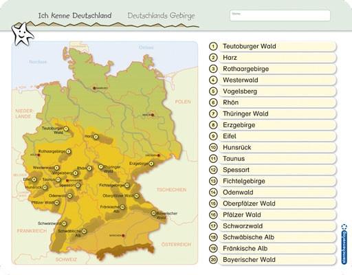Ich kenne Deutschland - Deutschlands Gebirge - Vorderseite