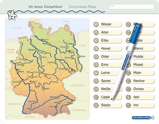Ich kenne Deutschland - Deutschlands Flüsse - Vorderseite