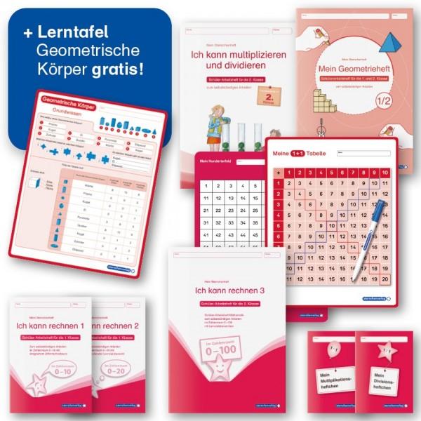 Lehrerprüfpaket 7 - Mathematik: 1. bis 2. Klasse + Lerntafel gratis!