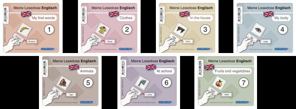 Lesedosen Englisch – 1 bis 7 als Kombi