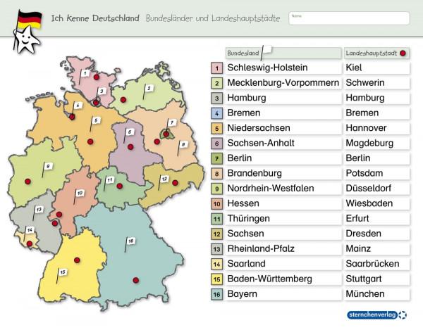 Ich kenne Deutschland – Bundesländer und Landeshauptstädte