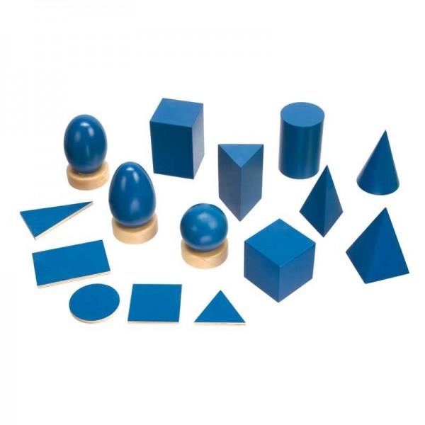 Geometrische Körper und Grundtäfelchen, dunkelblau